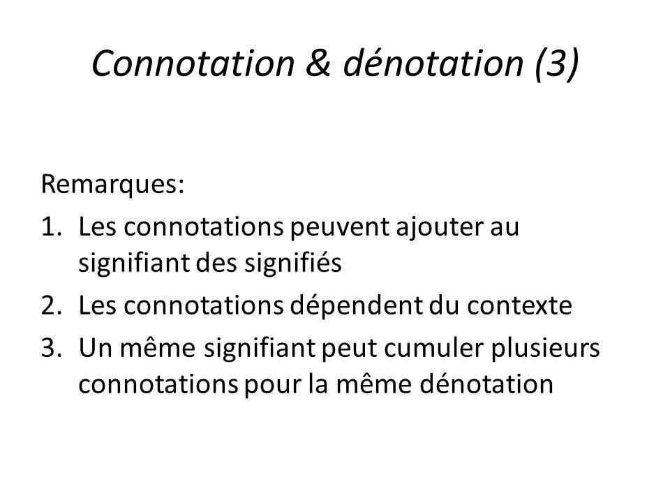 Connotation & dénotation (3)