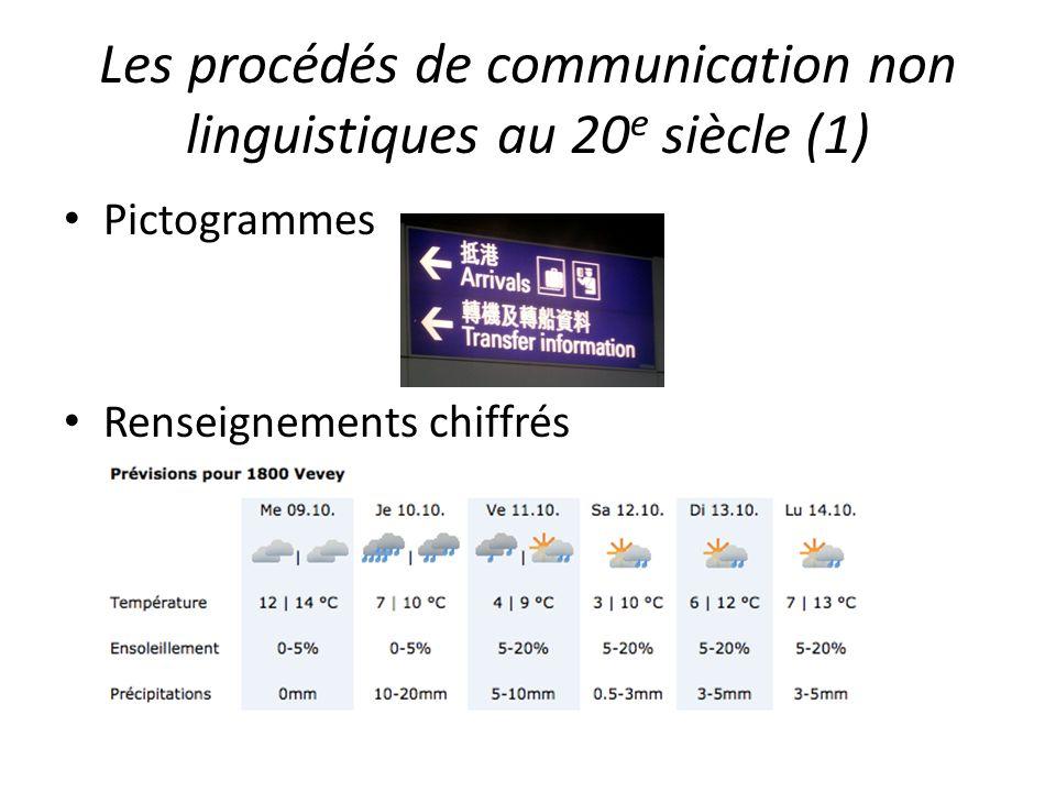 Les procédés de communication non linguistiques au 20e siècle (1)