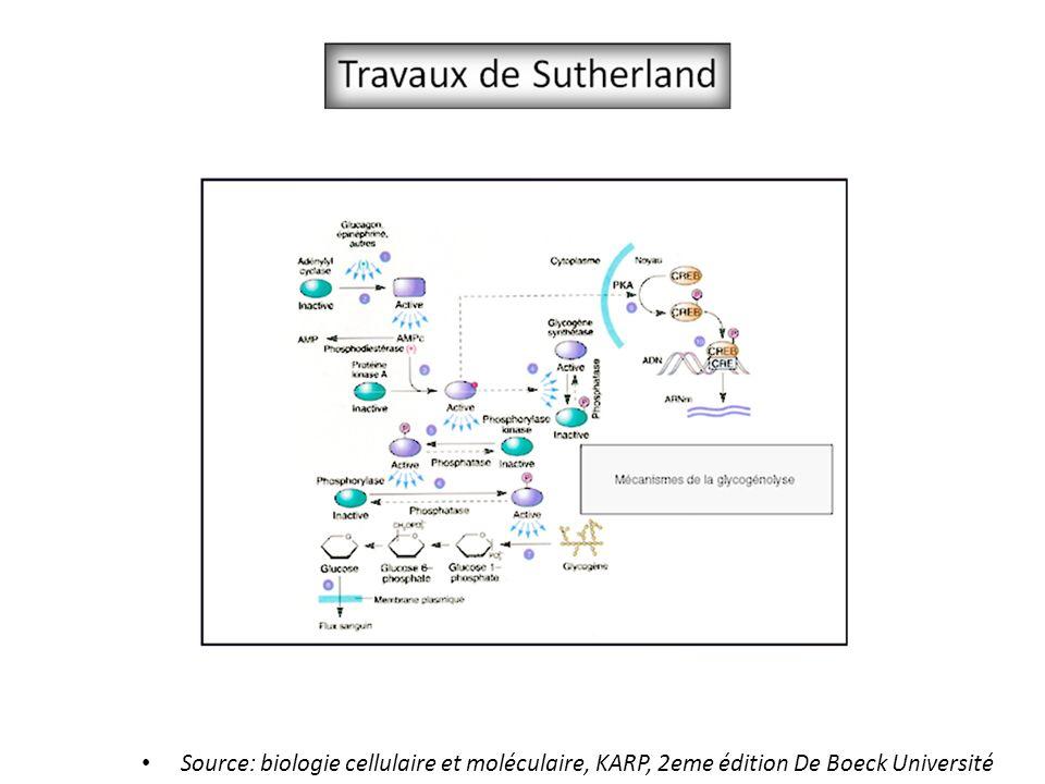 Source: biologie cellulaire et moléculaire, KARP, 2eme édition De Boeck Université