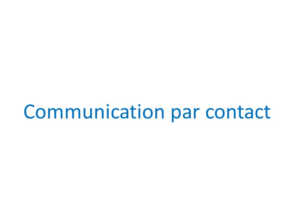 Communication par contact