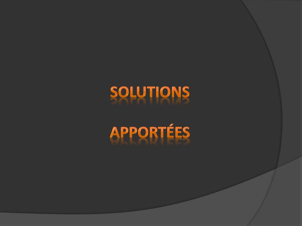 Solutions apportées