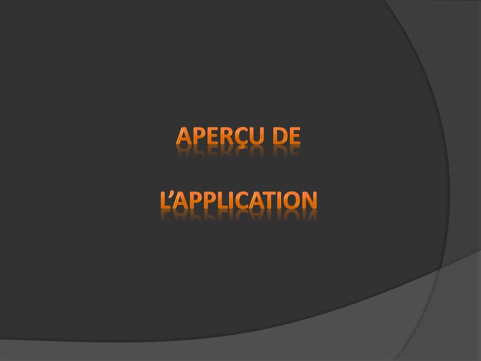 Aperçu de l'application