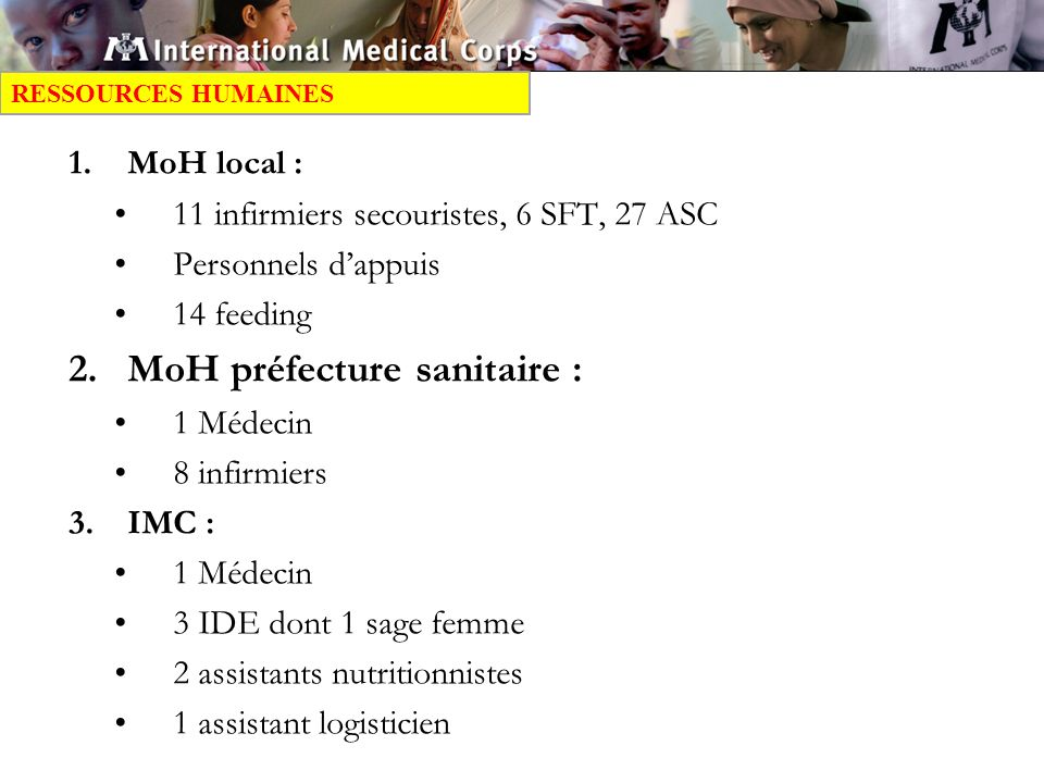 MoH préfecture sanitaire :