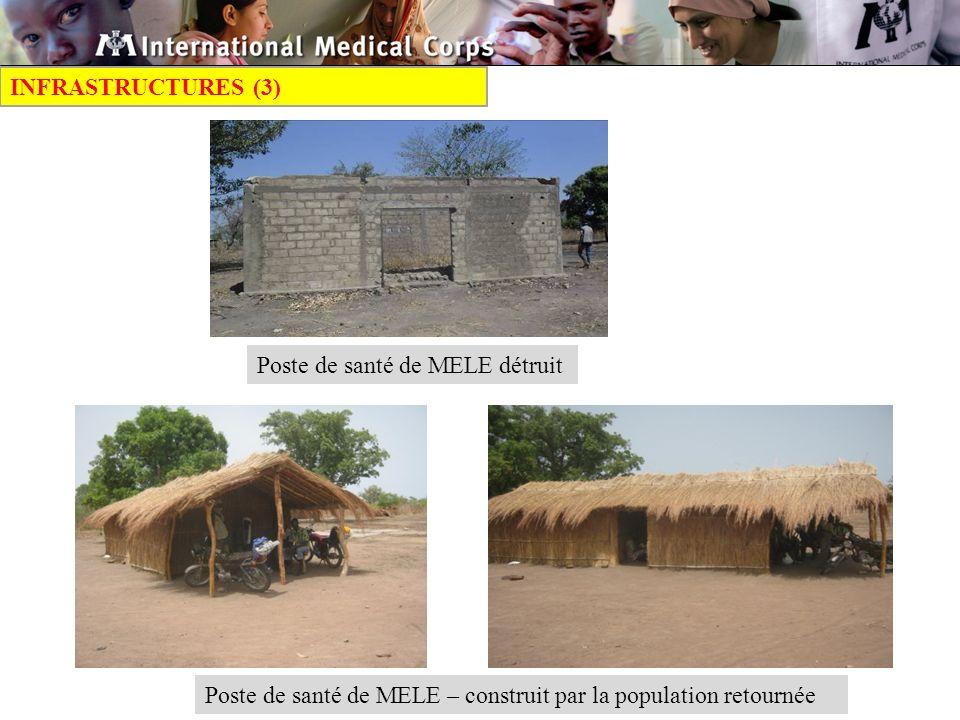 INFRASTRUCTURES (3) Poste de santé de MELE détruit.