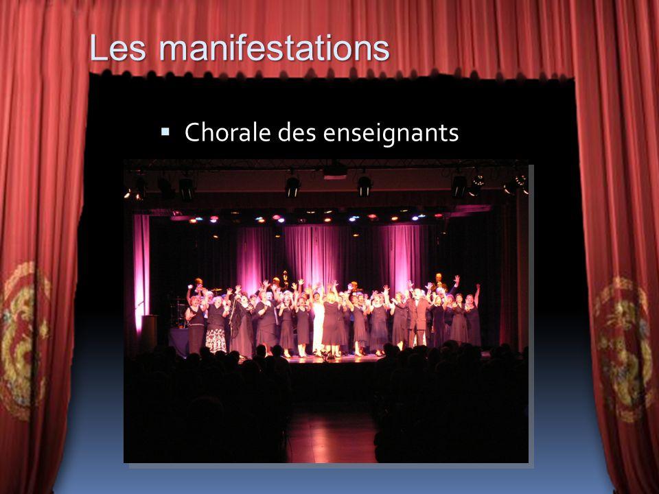 Les manifestations Chorale des enseignants