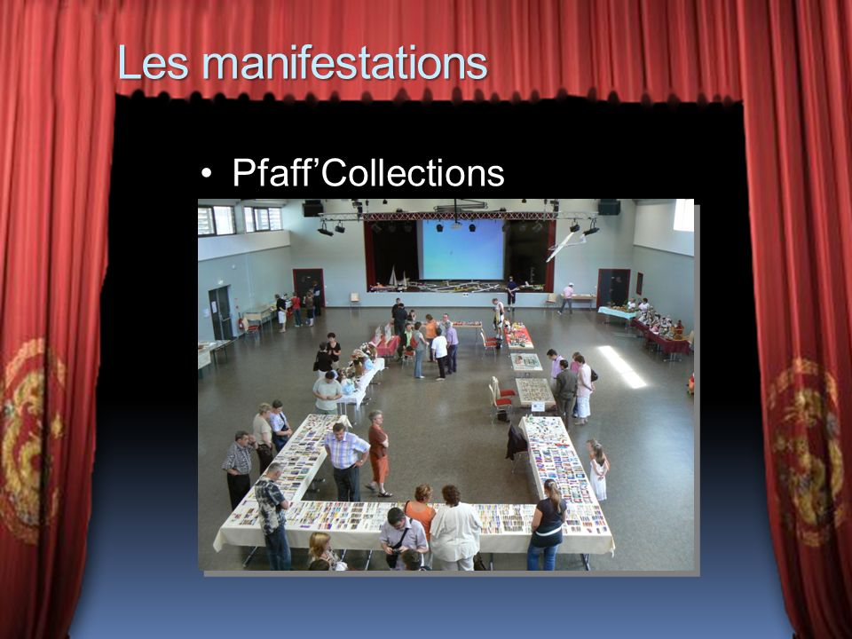 Les manifestations Pfaff'Collections