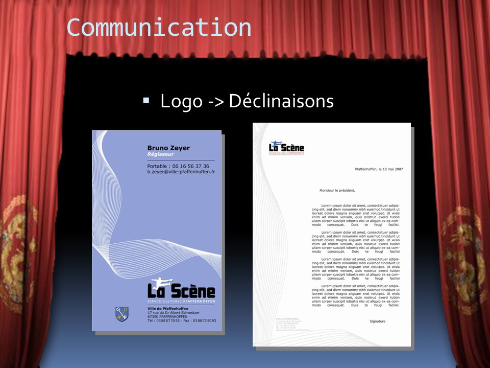 Communication Logo -> Déclinaisons