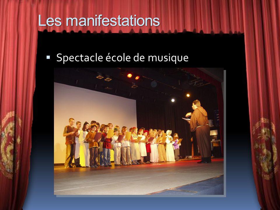 Les manifestations Spectacle école de musique