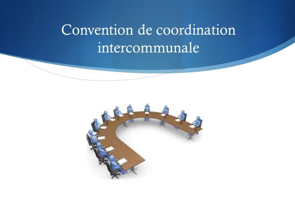 Convention de coordination intercommunale
