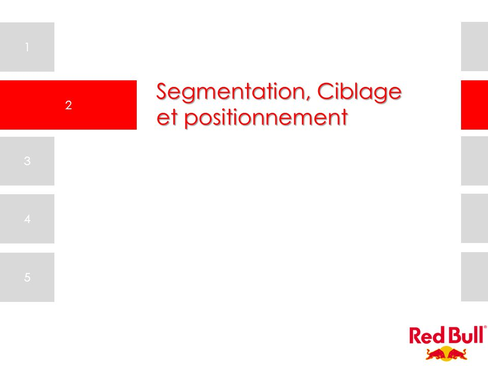 Segmentation, Ciblage et positionnement