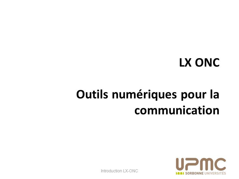 LX ONC Outils numériques pour la communication