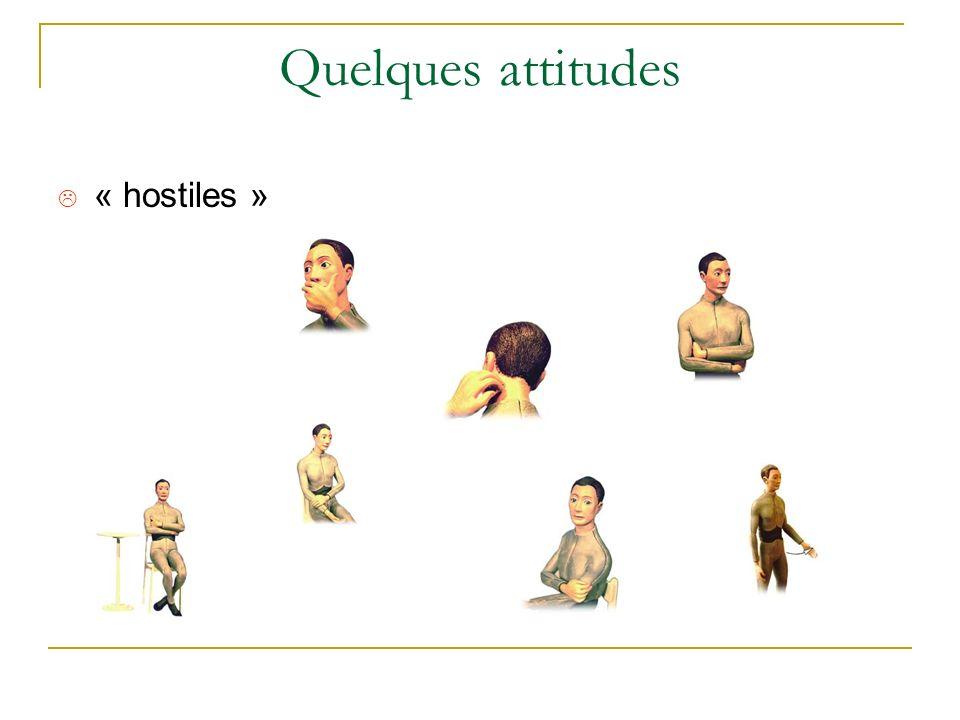 Quelques attitudes « hostiles »