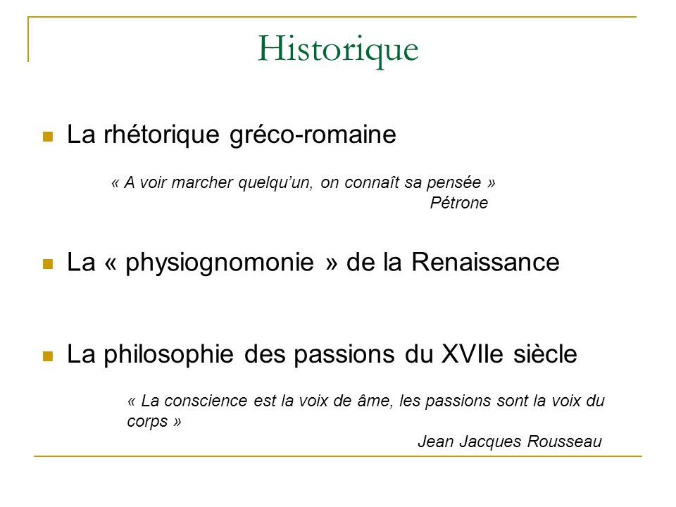 Historique La rhétorique gréco-romaine