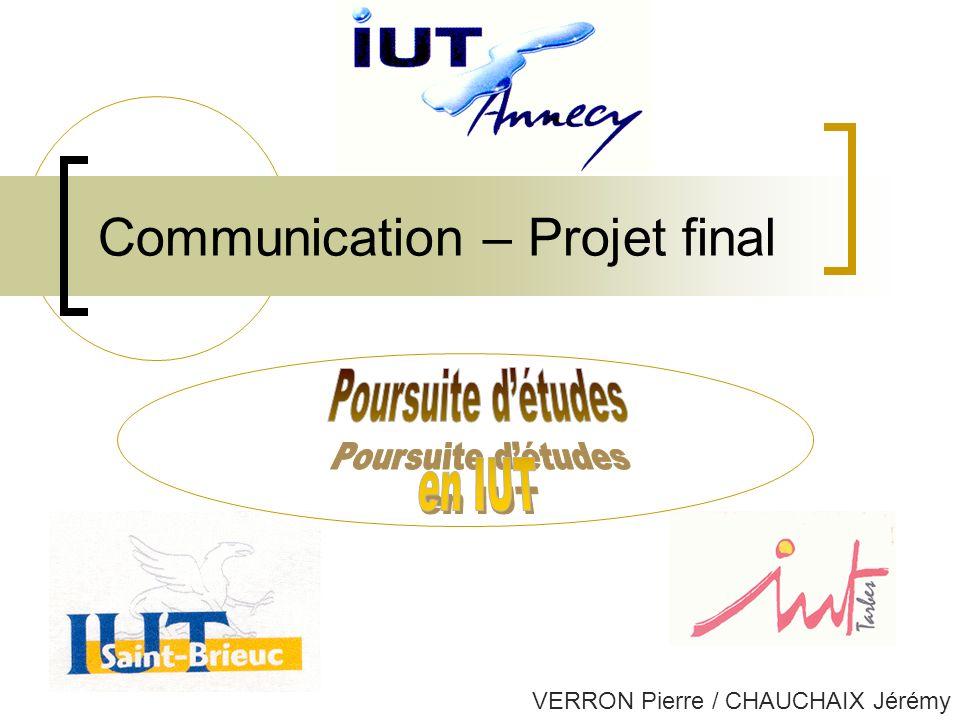 Communication – Projet final