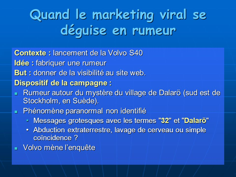 Quand le marketing viral se déguise en rumeur