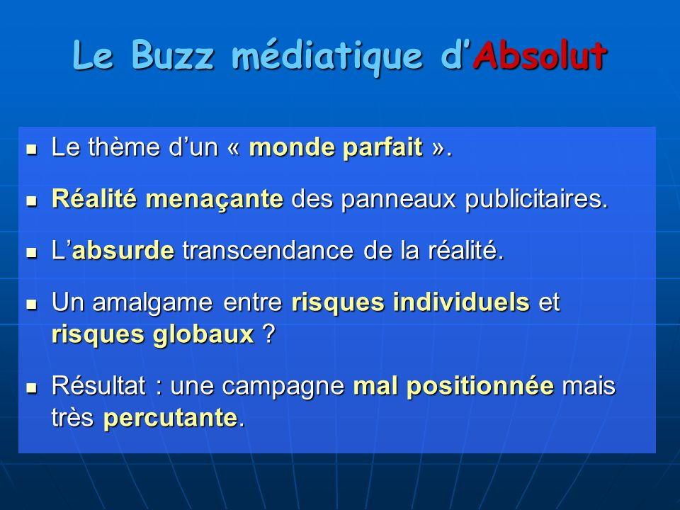 Le Buzz médiatique d'Absolut