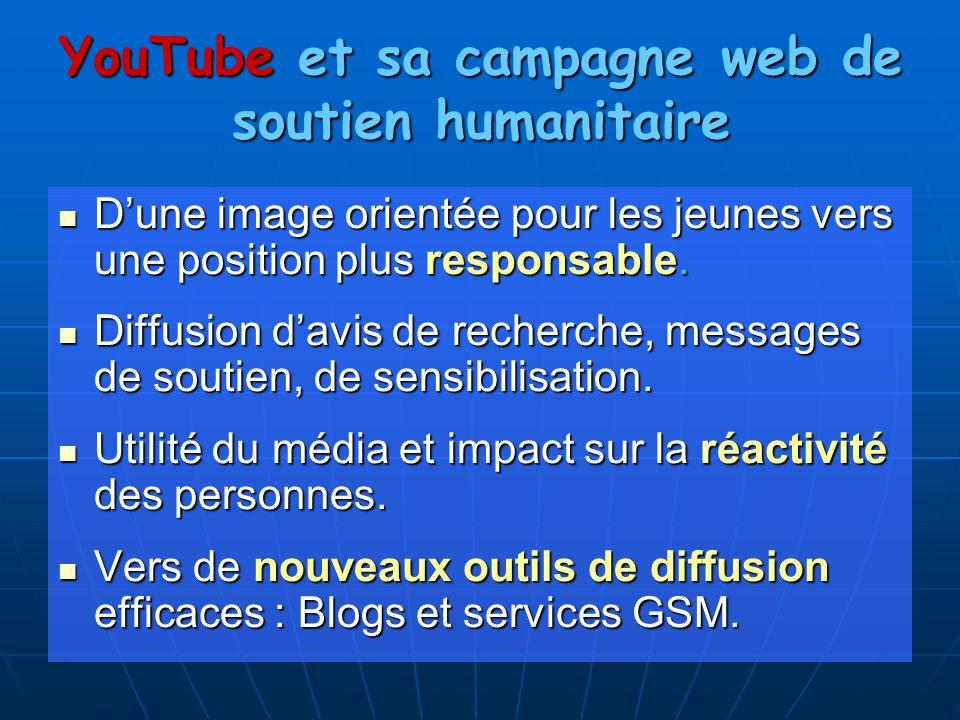 YouTube et sa campagne web de soutien humanitaire