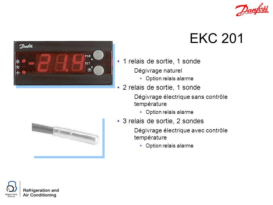 EKC 201 1 relais de sortie, 1 sonde 2 relais de sortie, 1 sonde