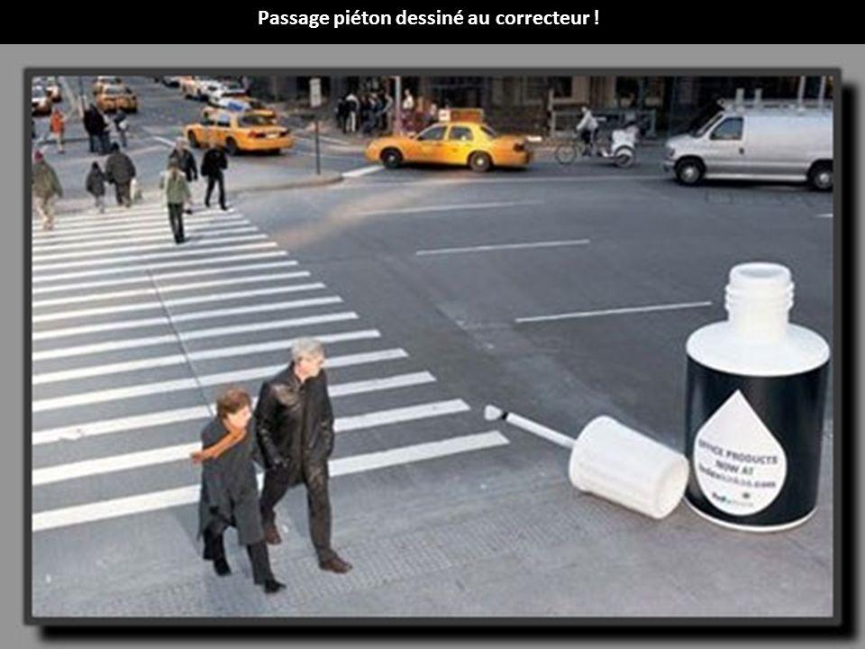 Passage piéton dessiné au correcteur !