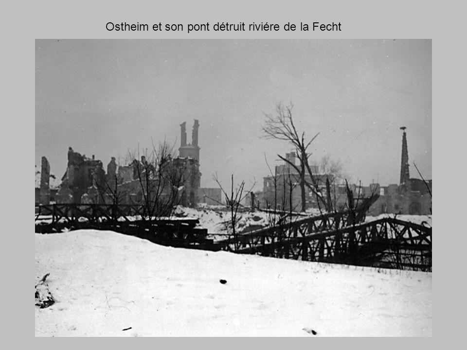 Ostheim et son pont détruit riviére de la Fecht
