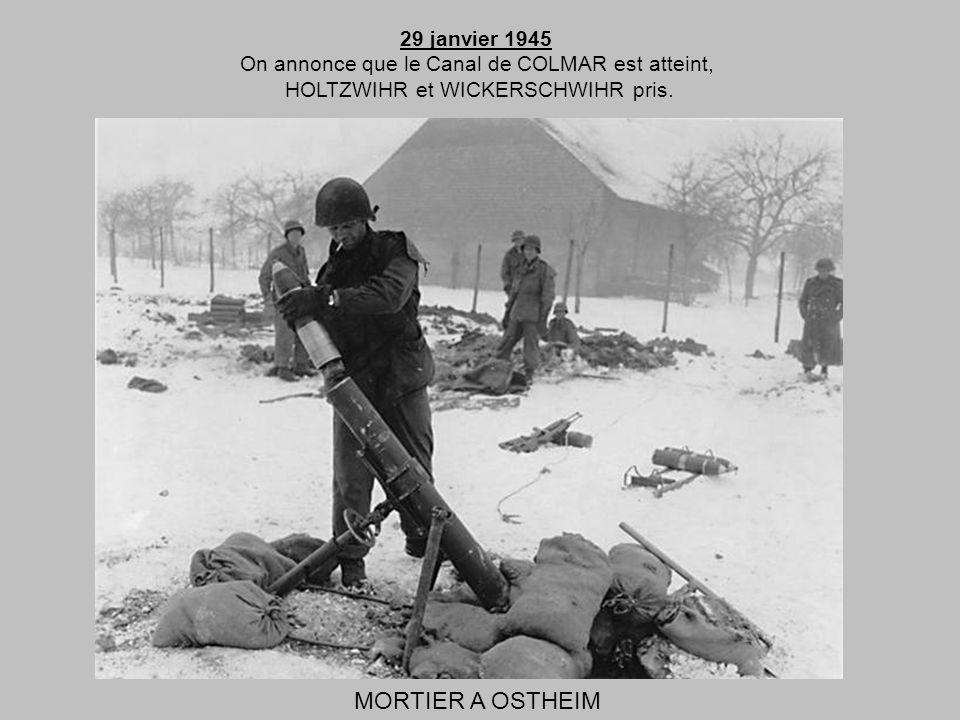 MORTIER A OSTHEIM 29 janvier 1945