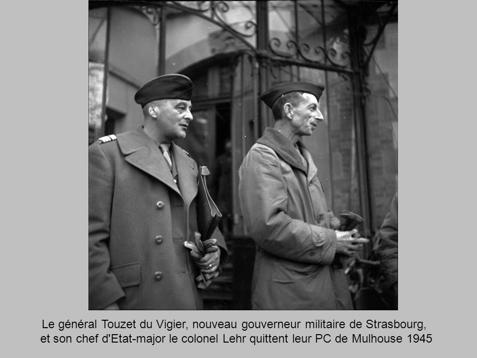 Le général Touzet du Vigier, nouveau gouverneur militaire de Strasbourg,