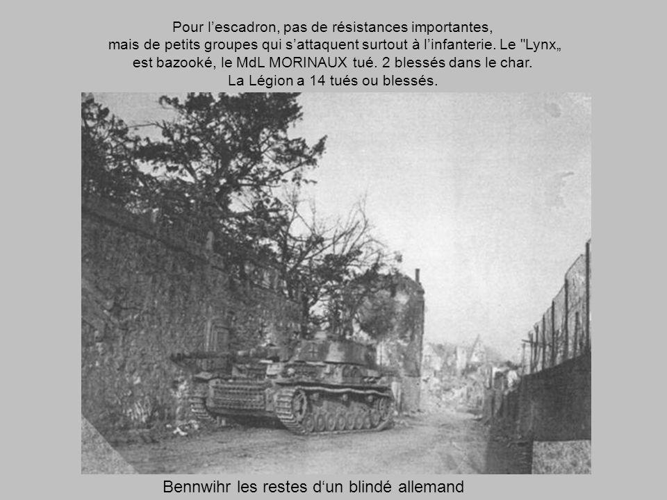Bennwihr les restes d'un blindé allemand