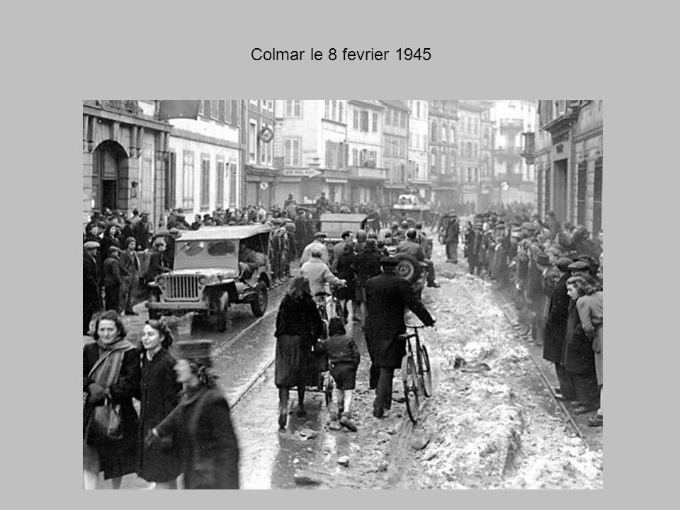 Colmar le 8 fevrier 1945