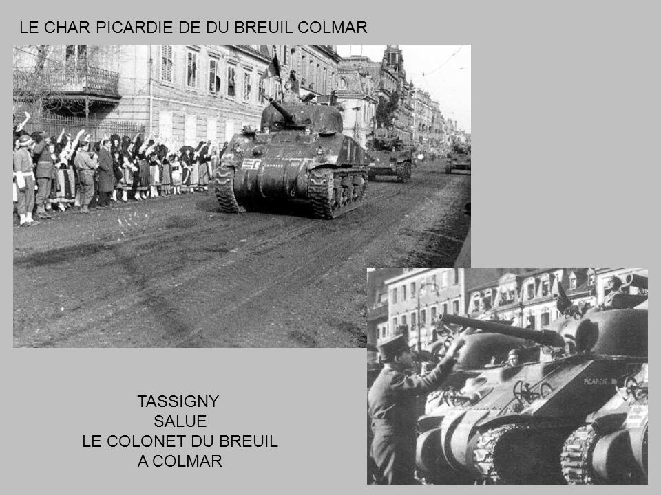 LE CHAR PICARDIE DE DU BREUIL COLMAR