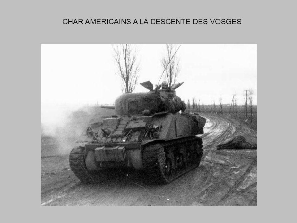 CHAR AMERICAINS A LA DESCENTE DES VOSGES