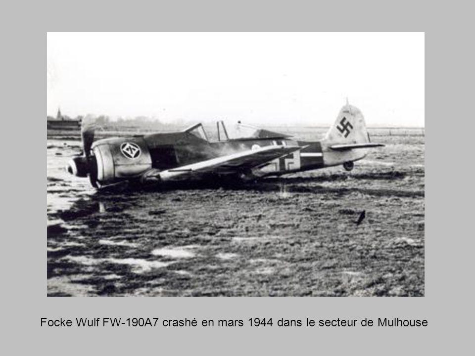 Focke Wulf FW-190A7 crashé en mars 1944 dans le secteur de Mulhouse