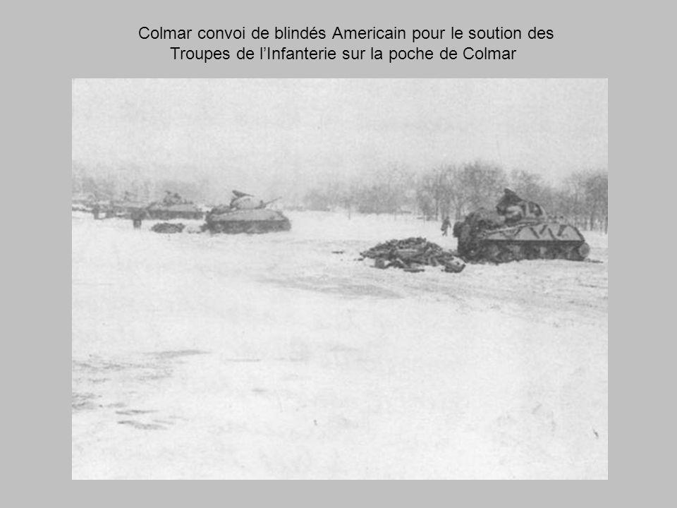 Colmar convoi de blindés Americain pour le soution des