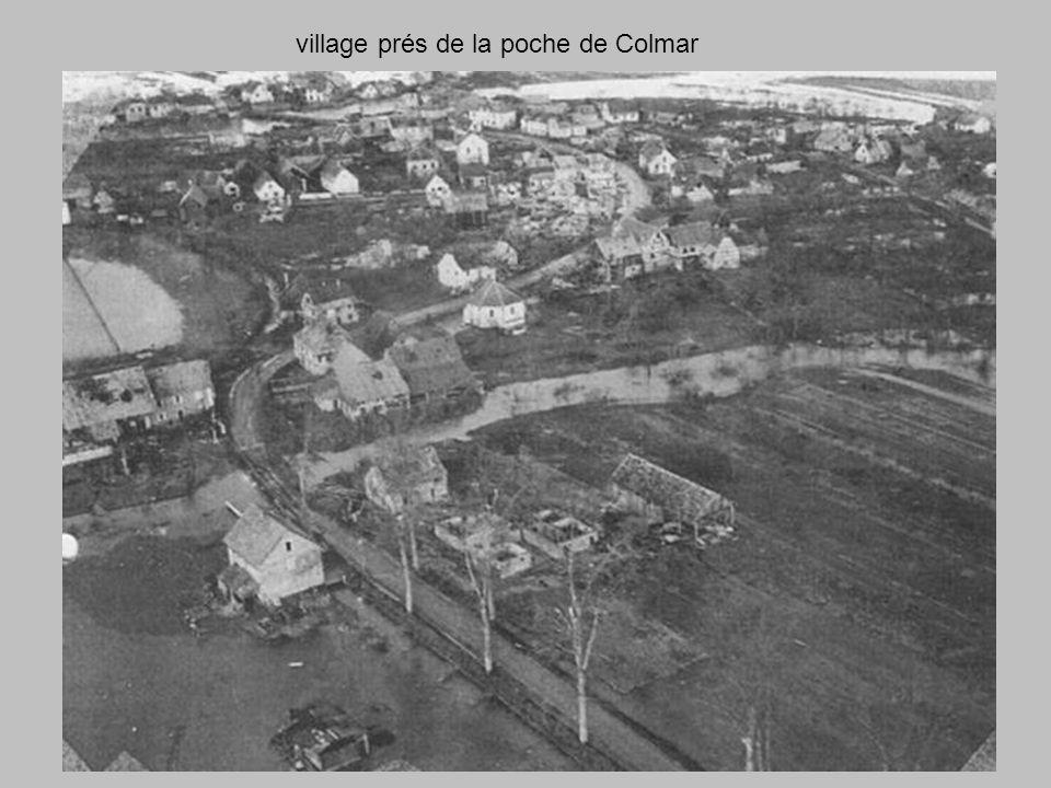 village prés de la poche de Colmar