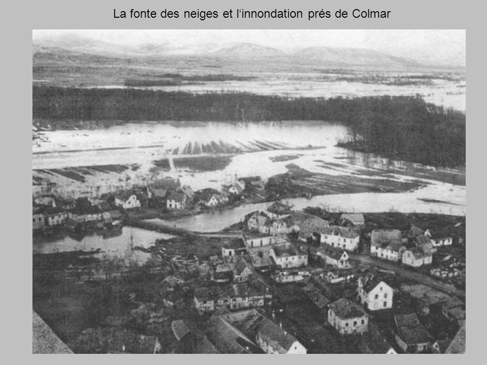 La fonte des neiges et l'innondation prés de Colmar