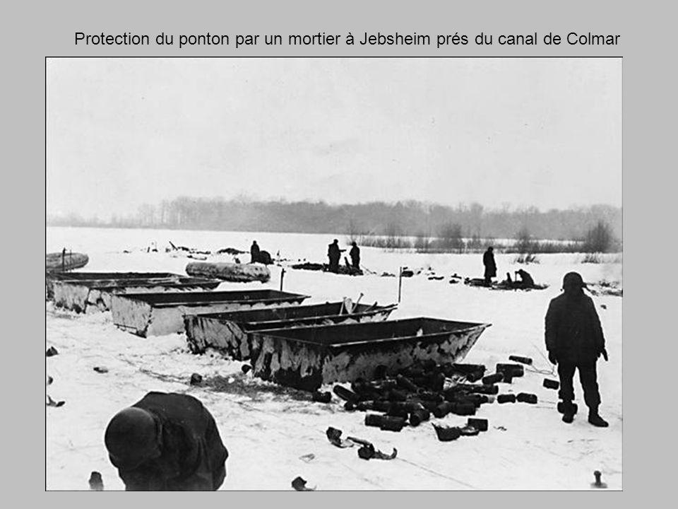 Protection du ponton par un mortier à Jebsheim prés du canal de Colmar