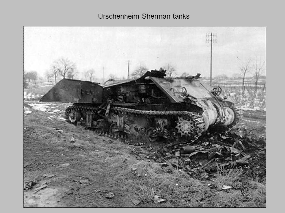 Urschenheim Sherman tanks