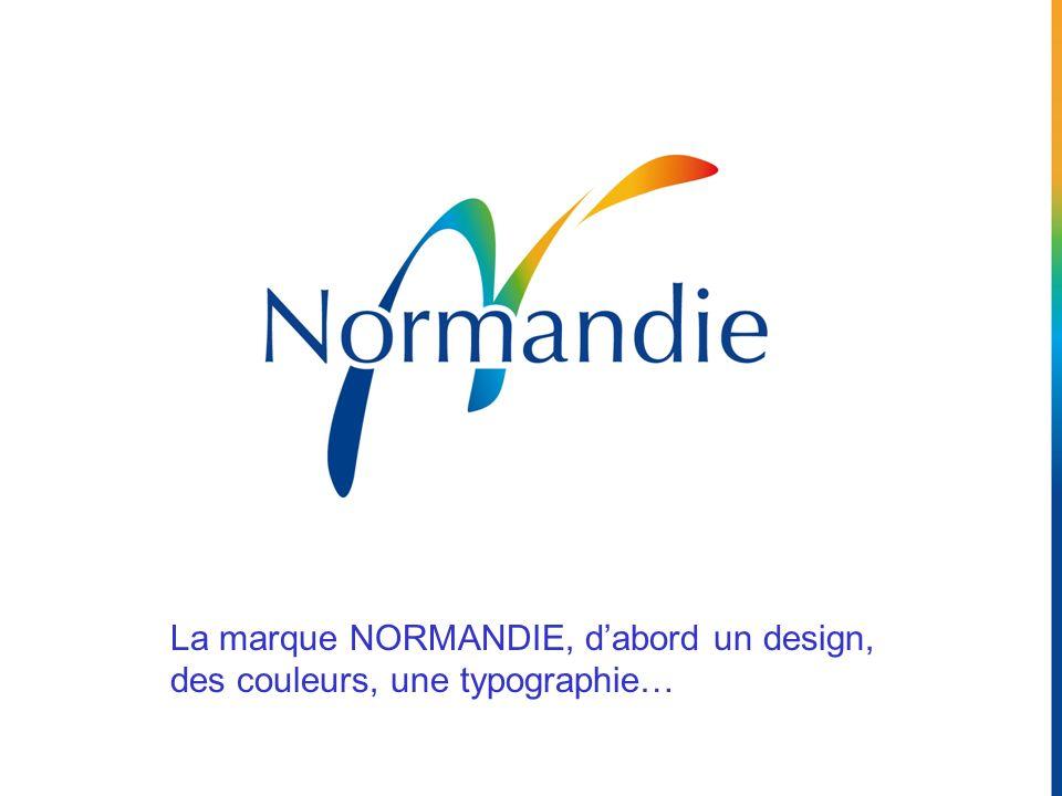 La marque NORMANDIE, d'abord un design, des couleurs, une typographie…