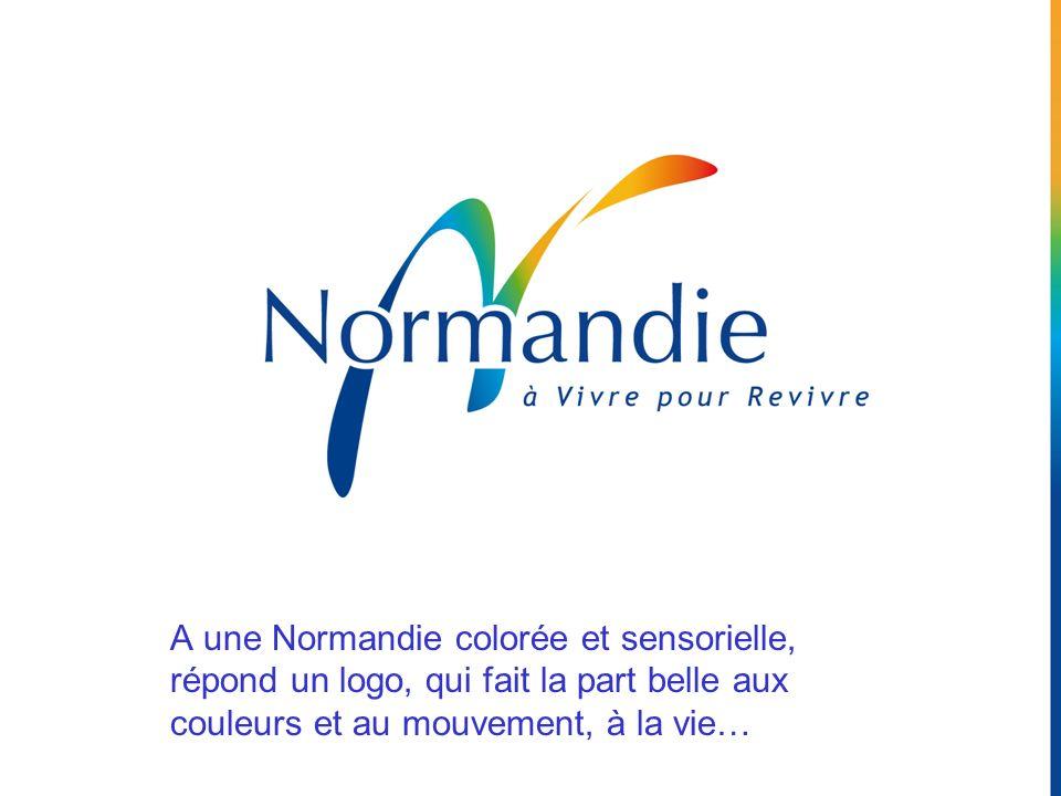 A une Normandie colorée et sensorielle, répond un logo, qui fait la part belle aux couleurs et au mouvement, à la vie…