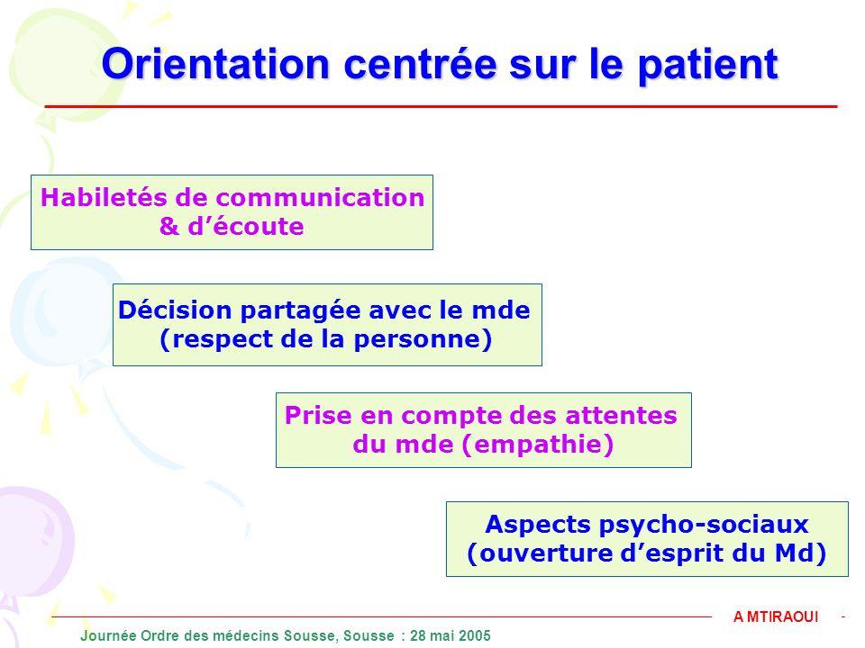 Orientation centrée sur le patient