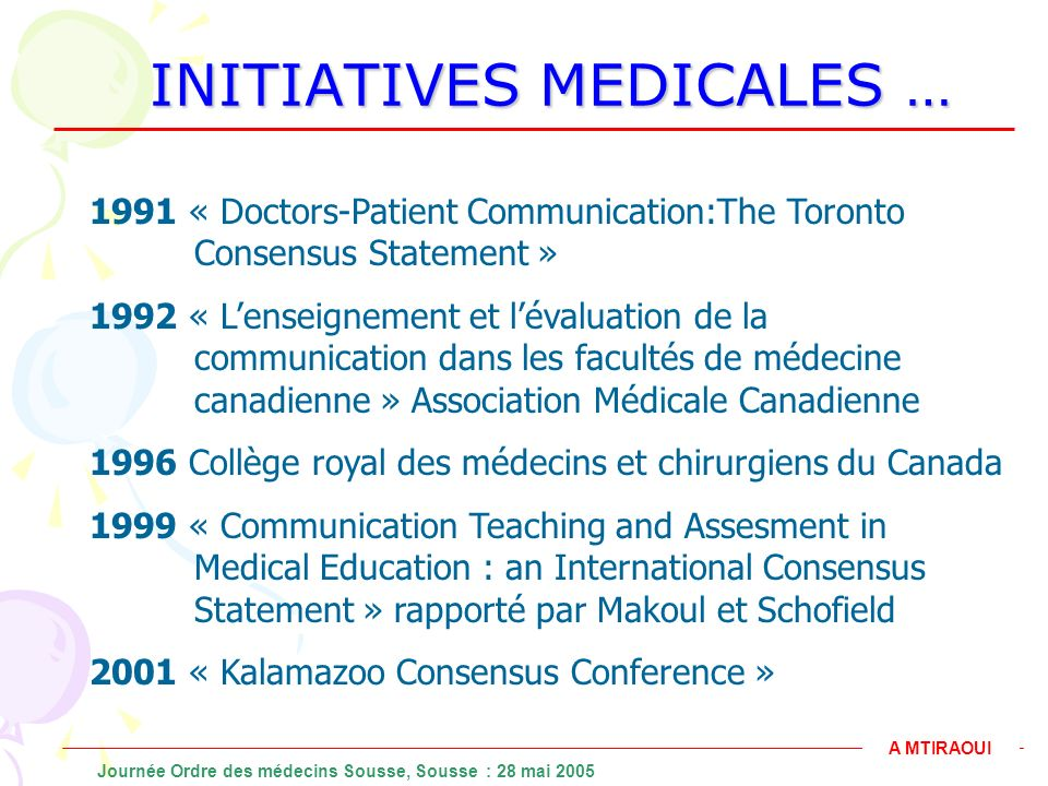 INITIATIVES MEDICALES …