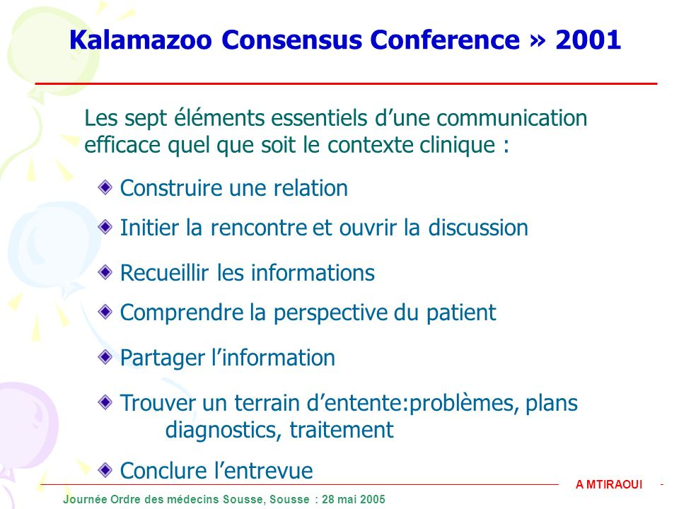 Kalamazoo Consensus Conference » 2001