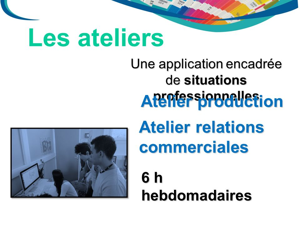 Une application encadrée de situations professionnelles