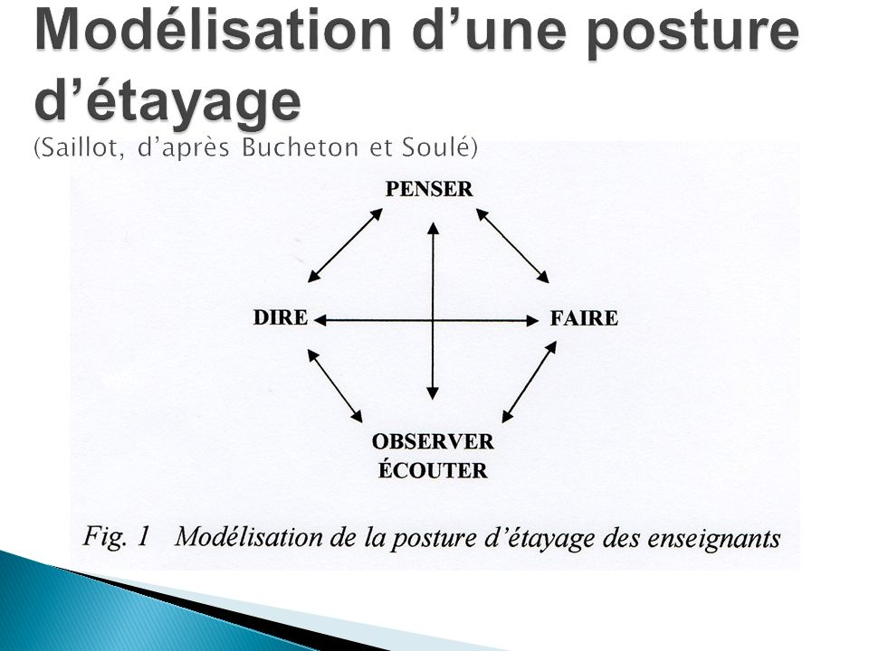 Modélisation d'une posture d'étayage (Saillot, d'après Bucheton et Soulé)