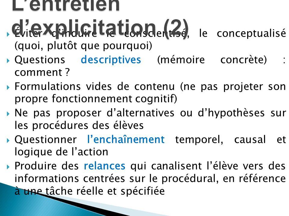 L'entretien d'explicitation (2)