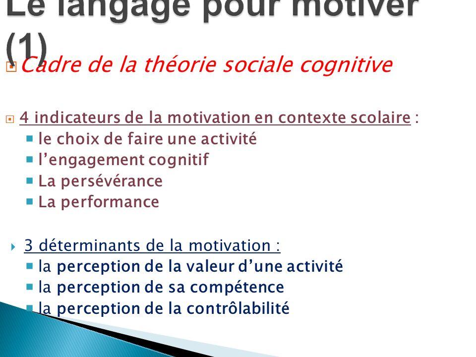 Le langage pour motiver (1)