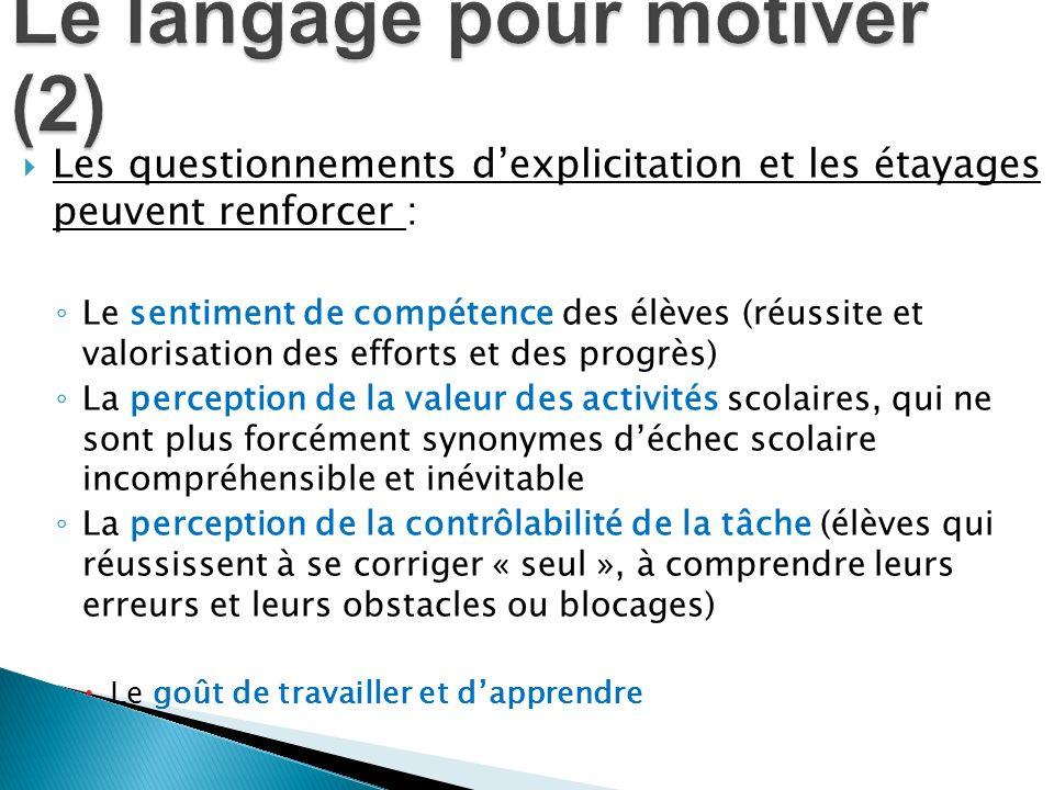 Le langage pour motiver (2)