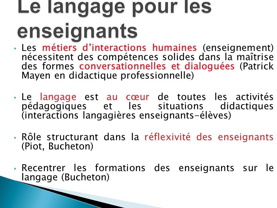 Le langage pour les enseignants