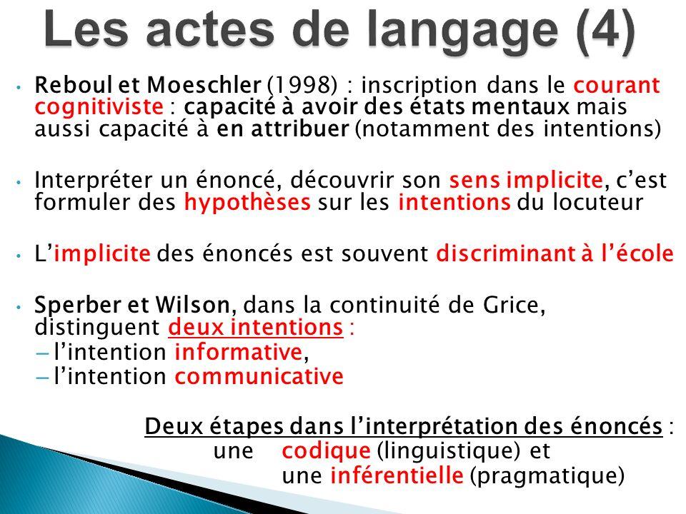 Les actes de langage (4)