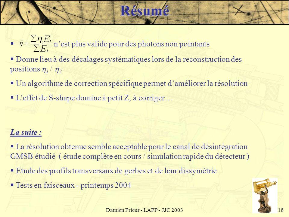Damien Prieur - LAPP - JJC 2003