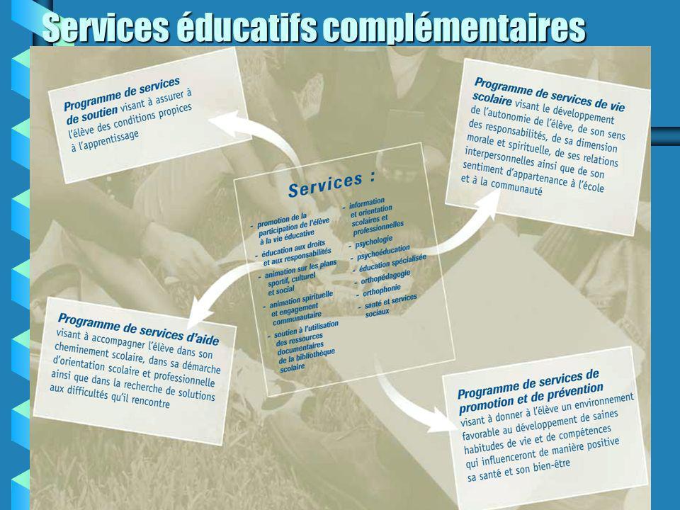 Services éducatifs complémentaires